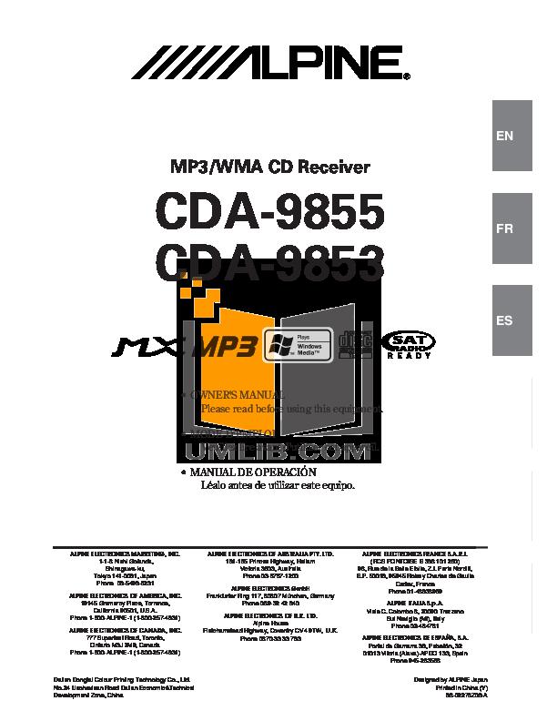 Alpine cdm-9823-r, cdm-9823-rr service manual download manuals &.