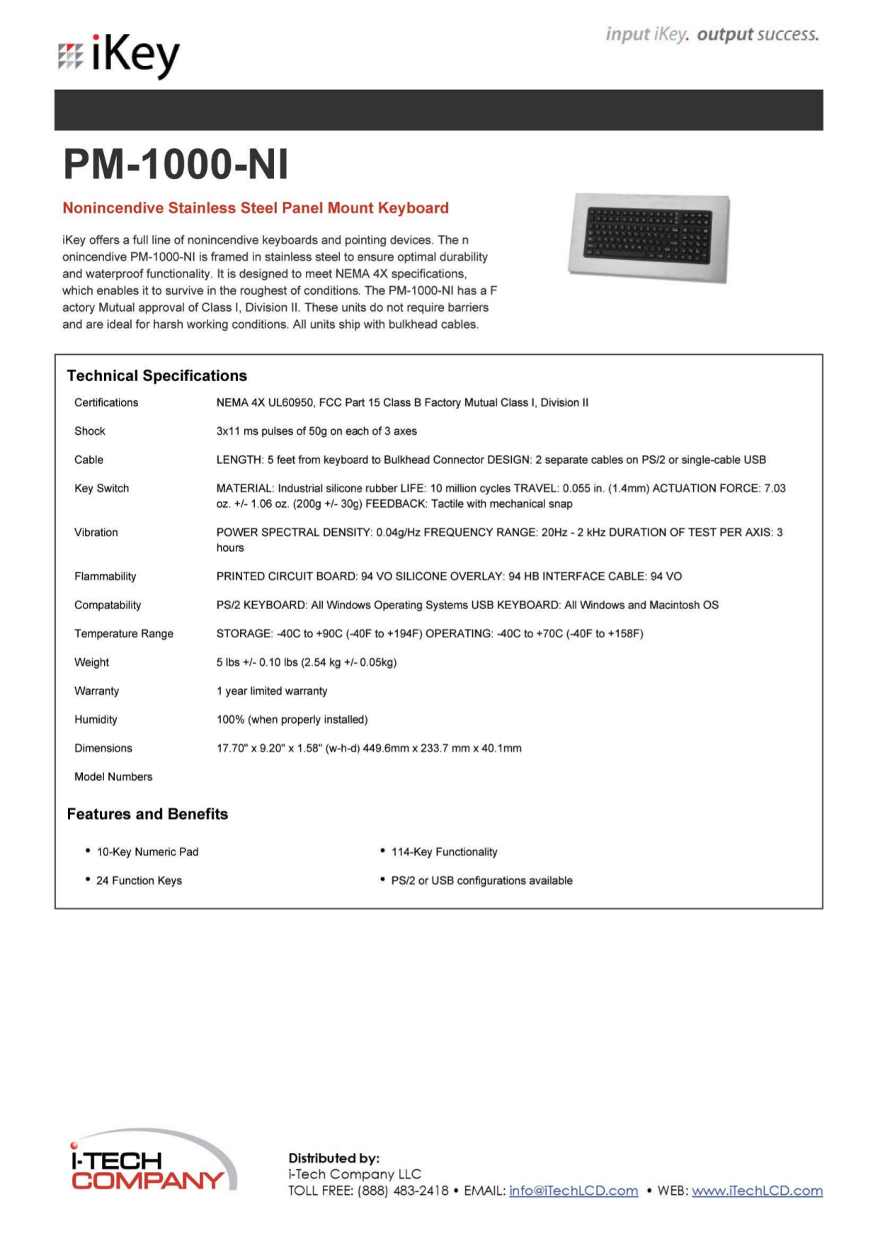 pdf for iKey Keyboard PM-1000 manual