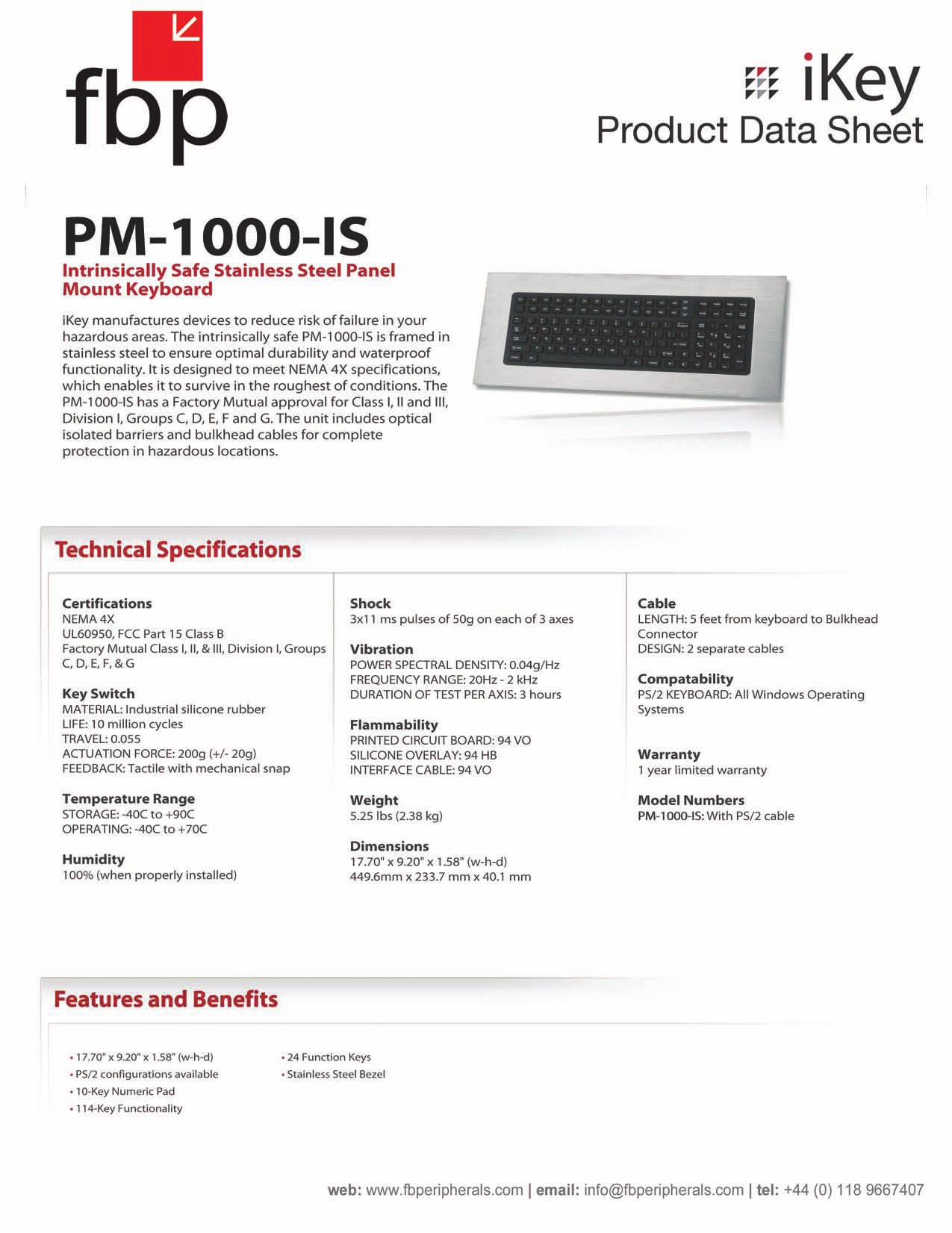 pdf for iKey Keyboard PM-1000 manual