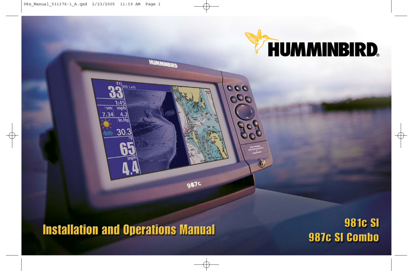 pdf for Humminbird GPS 987C SI manual