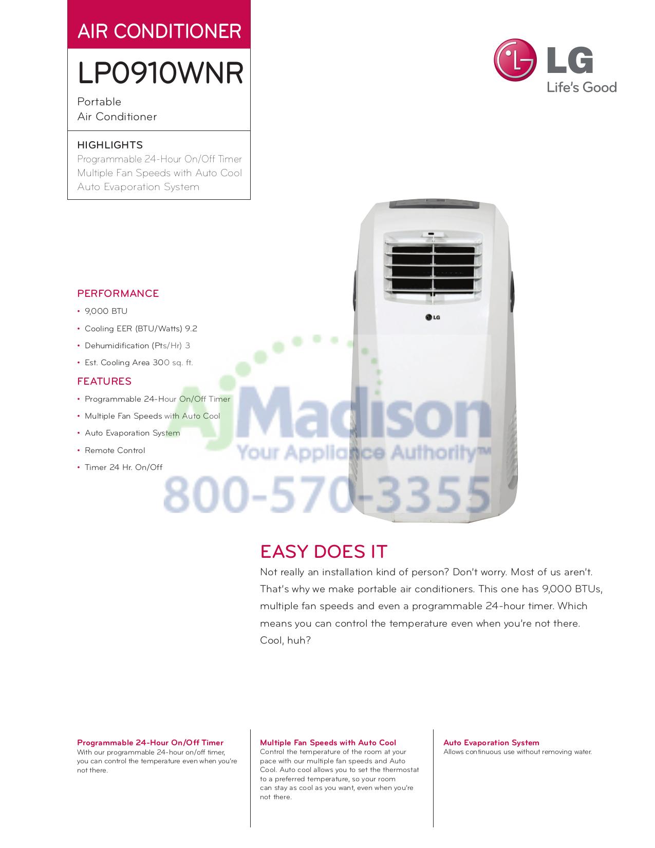 lg model lp0910wnr manual daily instruction manual guides u2022 rh testingwordpress co LG Air Conditioner Model S12coc lg lp0910wnr 9000 btu portable air conditioner manual