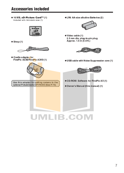 pdf manual for fujifilm digital camera finepix a340 rh umlib com Fuji FinePix 16MP Digital Camera