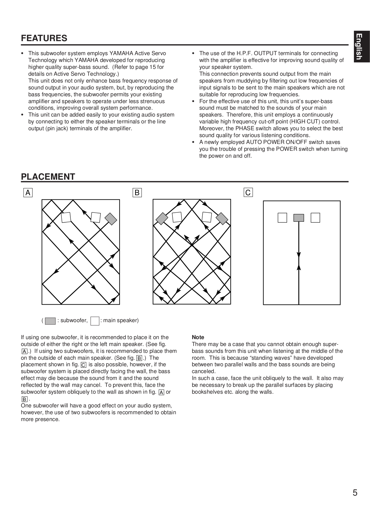 Yamaha Subwoofer YST-SW300 pdf page preview