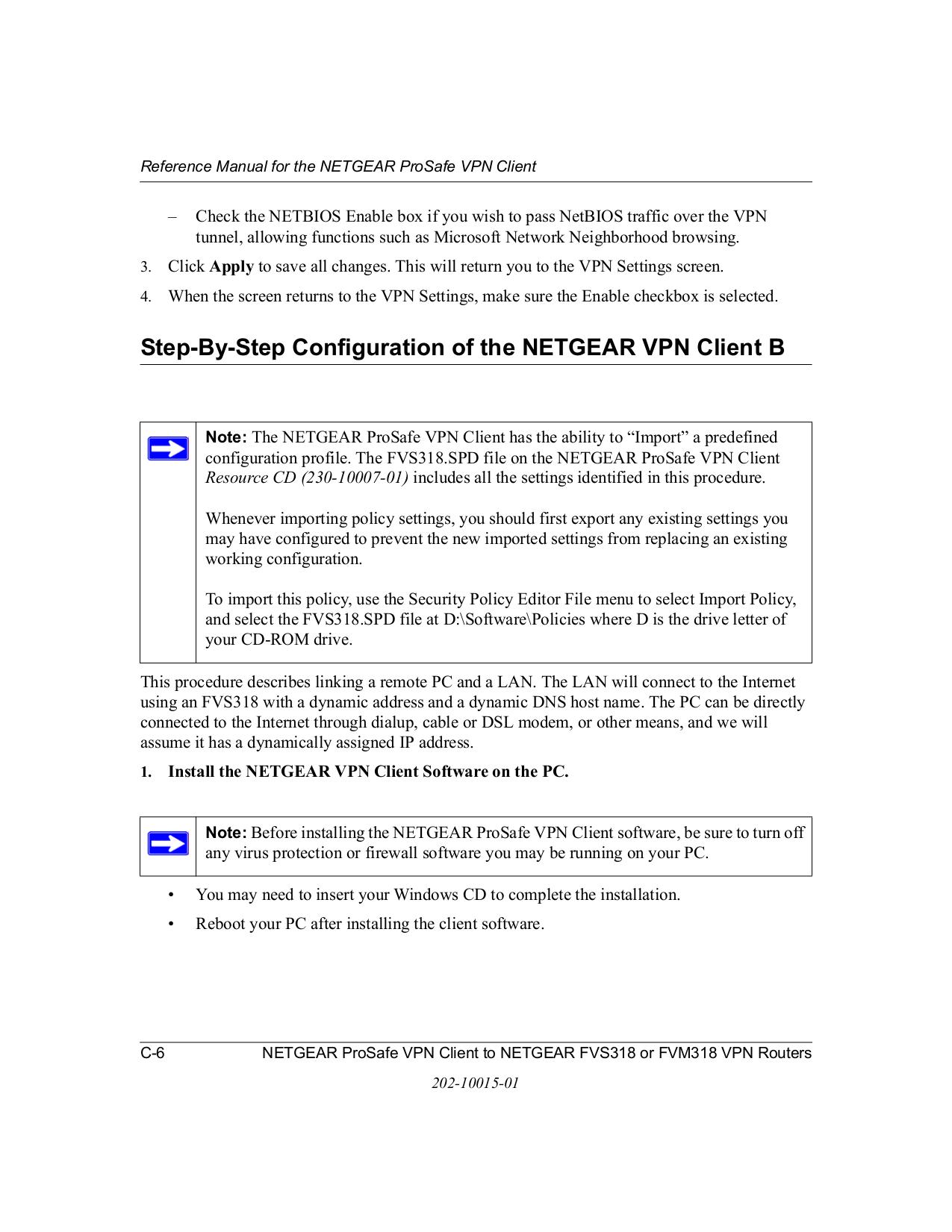 PDF manual for Netgear Router ProSafe FVS318G