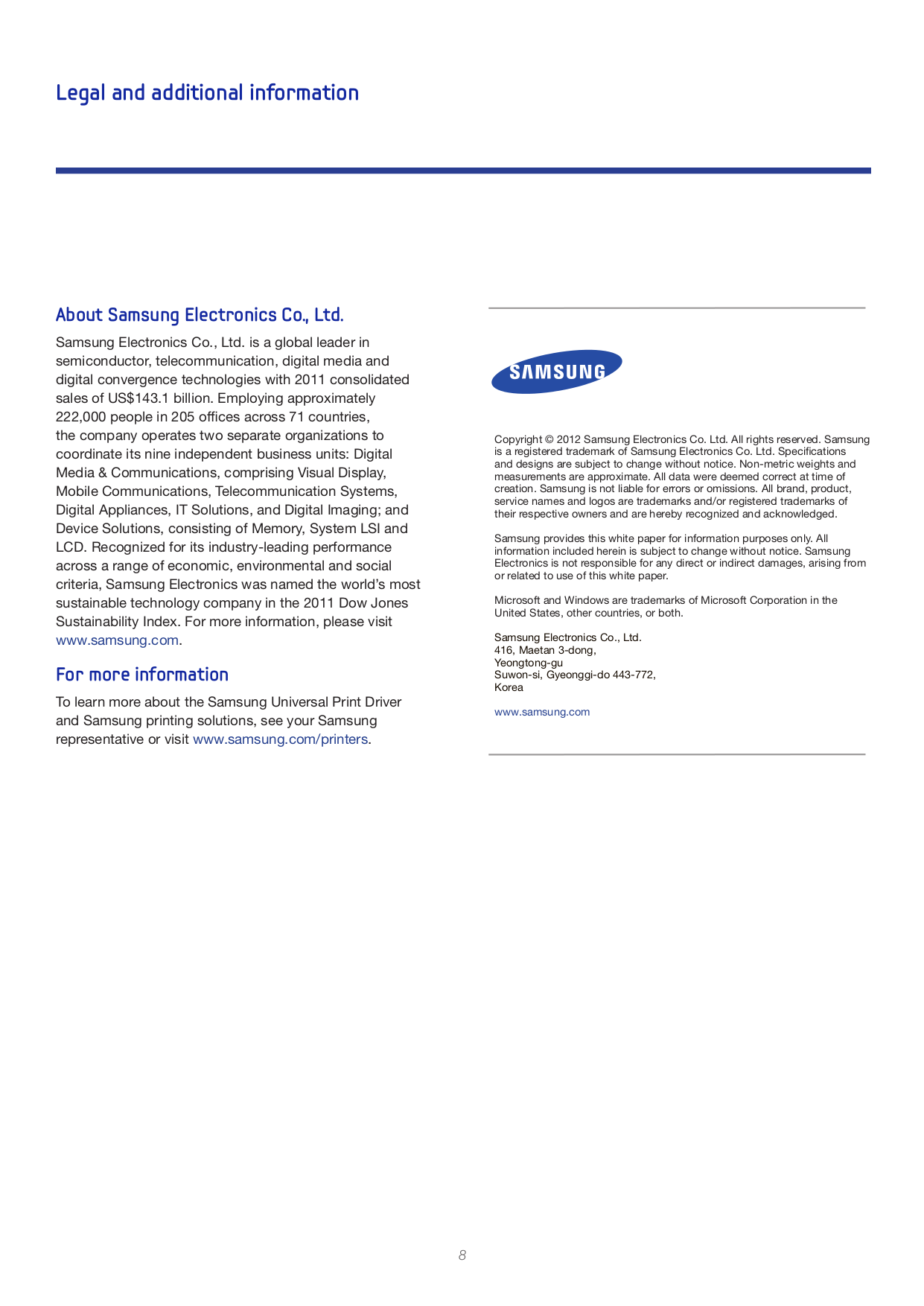 Samsung Printer ML-1450 pdf page preview