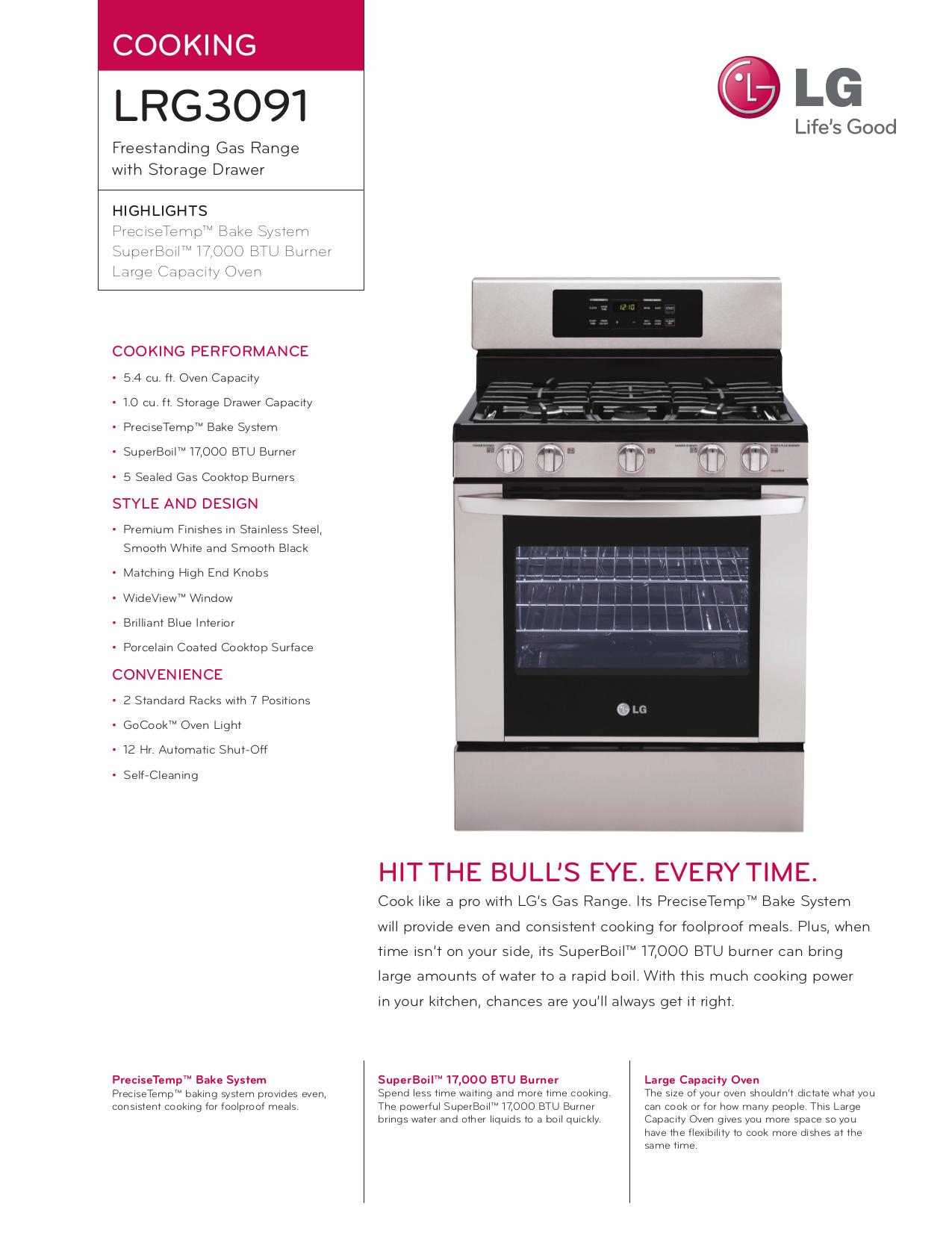 pdf manual for lg range lrg3091st