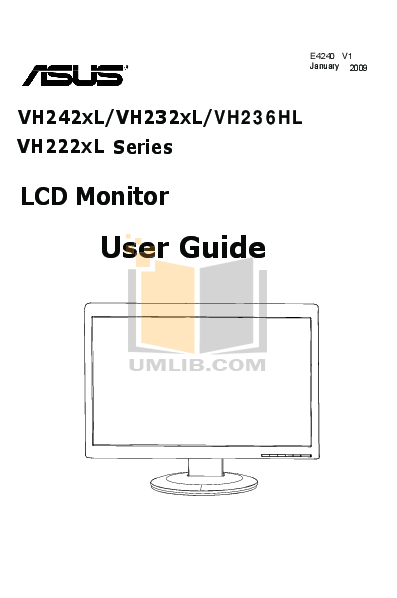 pdf for Asus Monitor VH236HL manual
