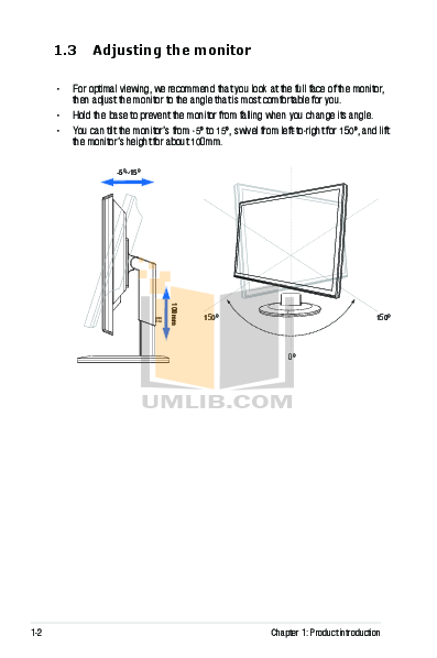 Asus Monitor VH236HL pdf page preview