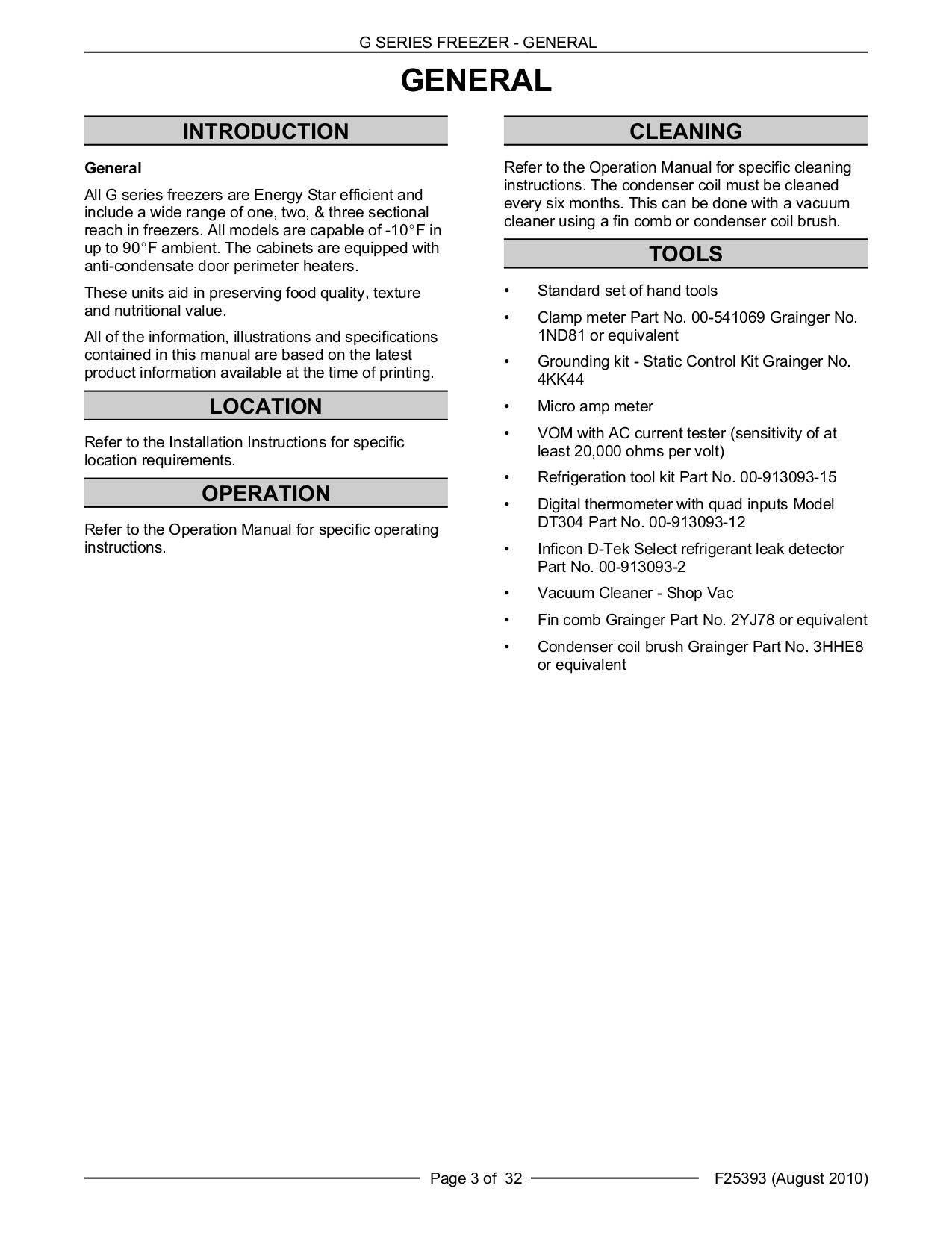 Pdf Manual For Traulsen Refrigerator G12010