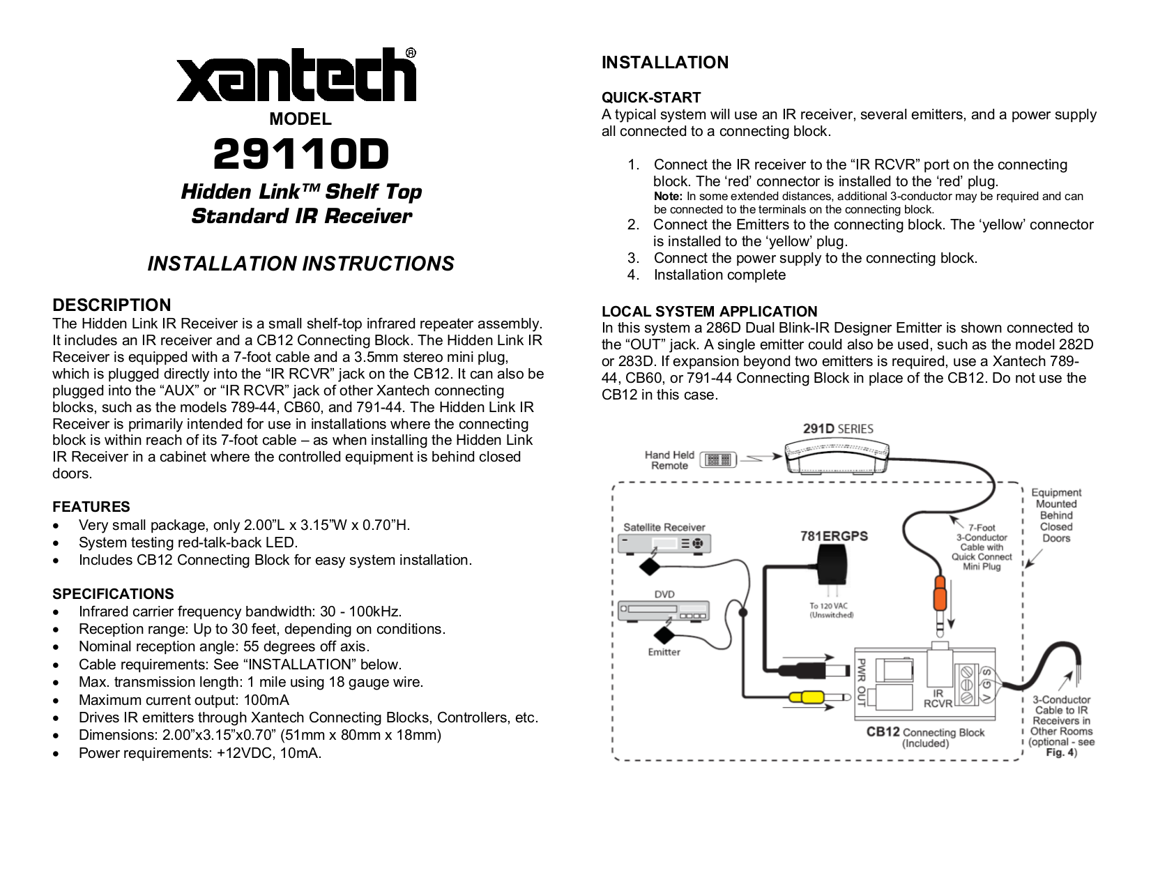 download free pdf for xantech cb12 connecting blocks other manual  pdf for xantech other cb12 connecting blocks manual