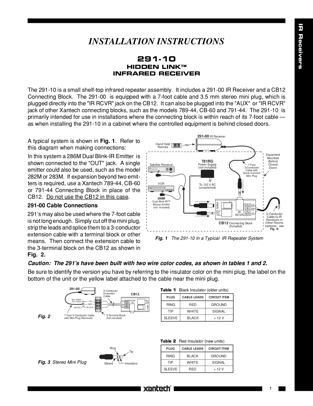 pdf for Xantech Other CB12 Connecting Blocks manual