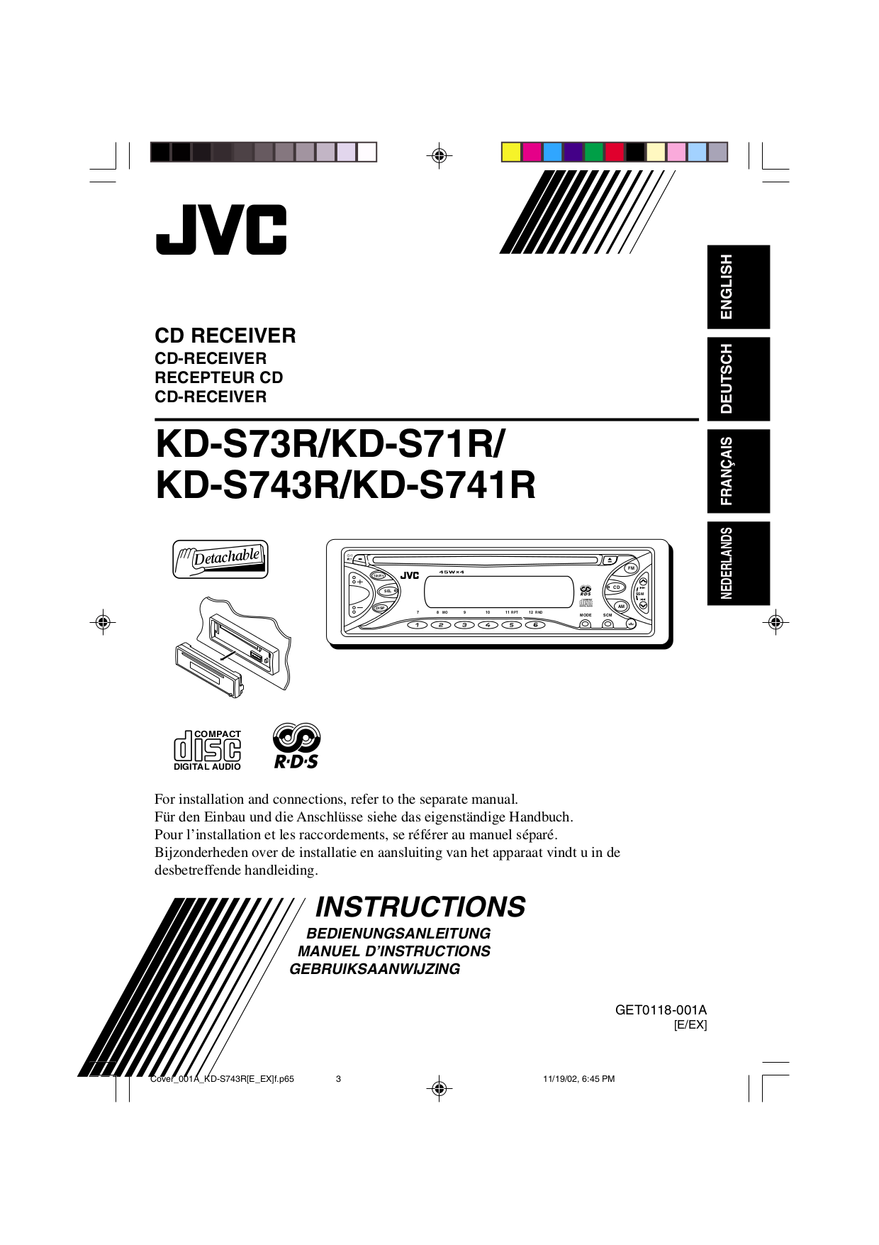 download free pdf for jvc kd s743r car receiver manual rh umlib com jvc kd-bt1 instruction manual JVC Receiver