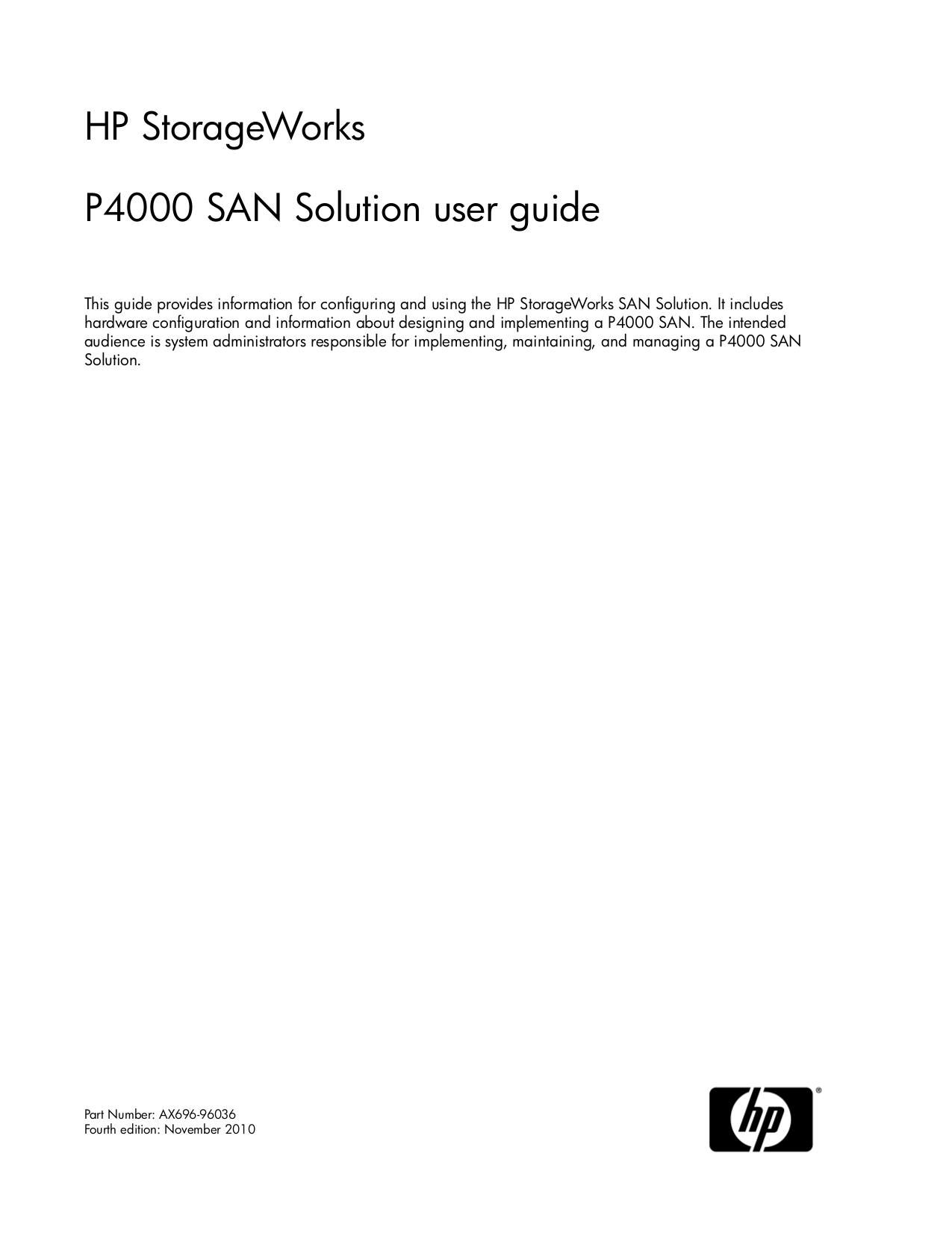 pdf for Quantum Storage P4000 manual