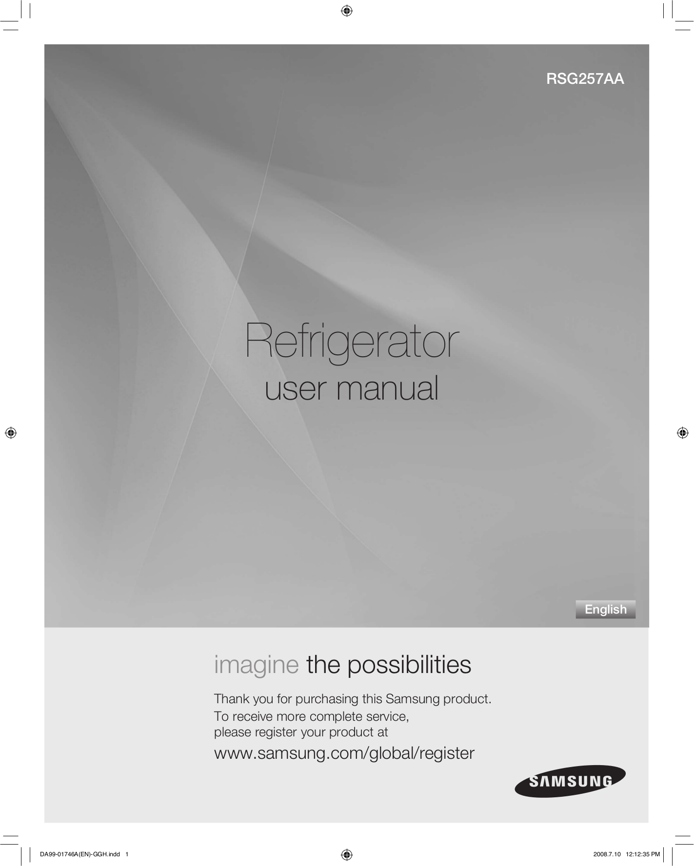 pdf for Samsung Refrigerator RSG257AA manual