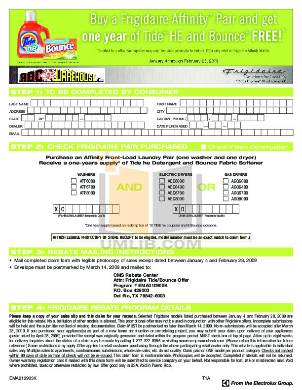 pdf for Frigidaire Dryer AGQ8000FG manual