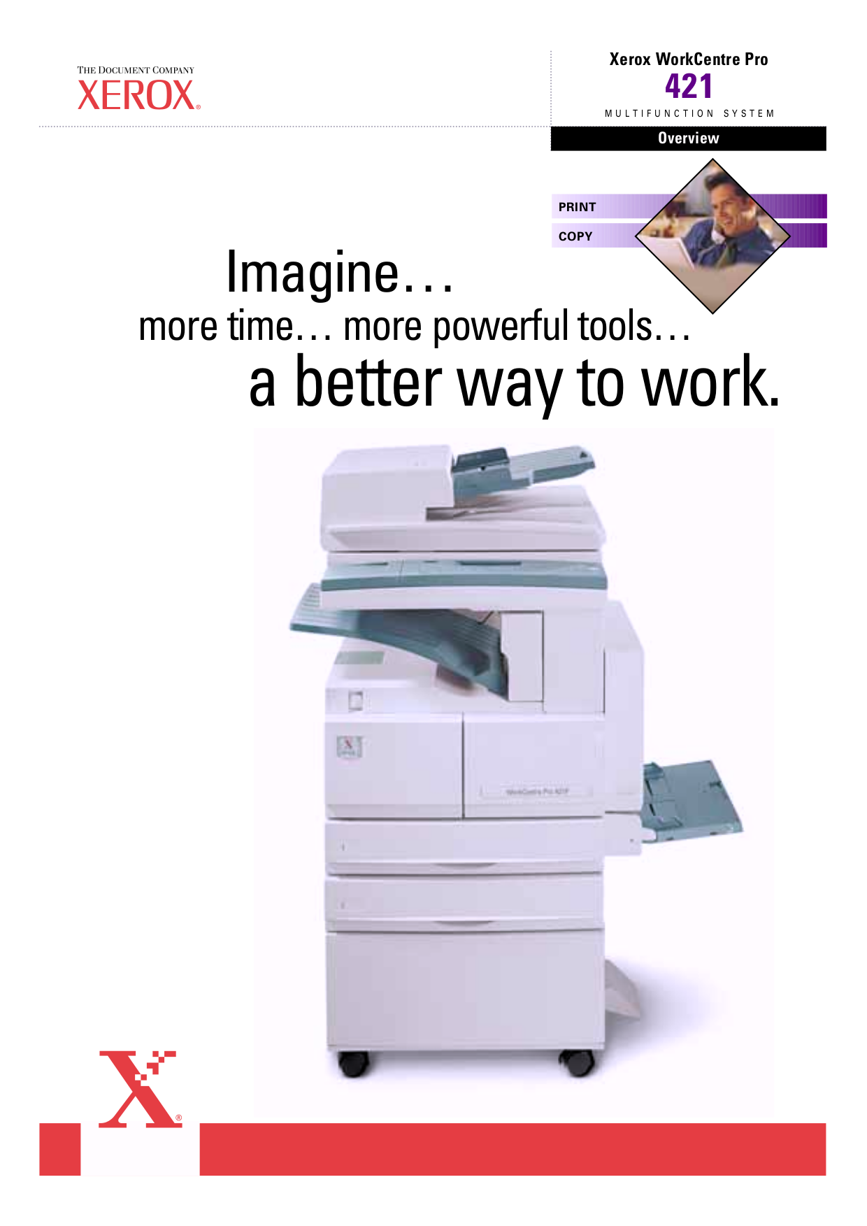 pdf for Xerox Multifunction Printer WorkCentre Pro 421 manual