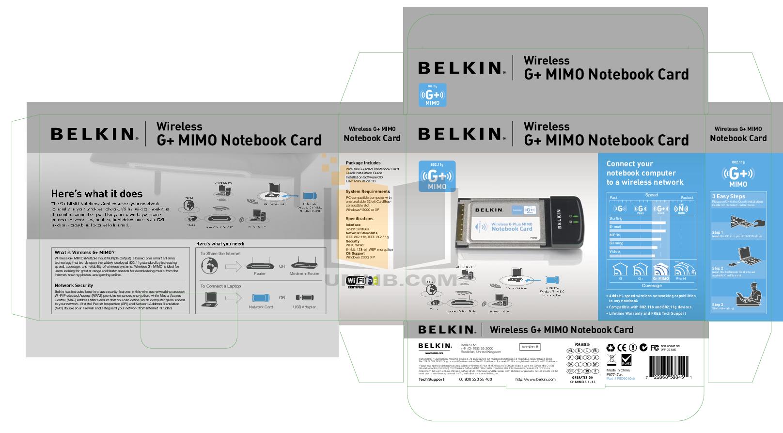pdf for Belkin Router F5D9010uk manual