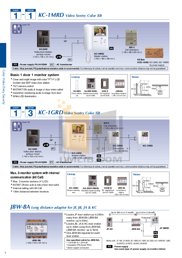 Aiphone Other VC-K Intercoms pdf page preview