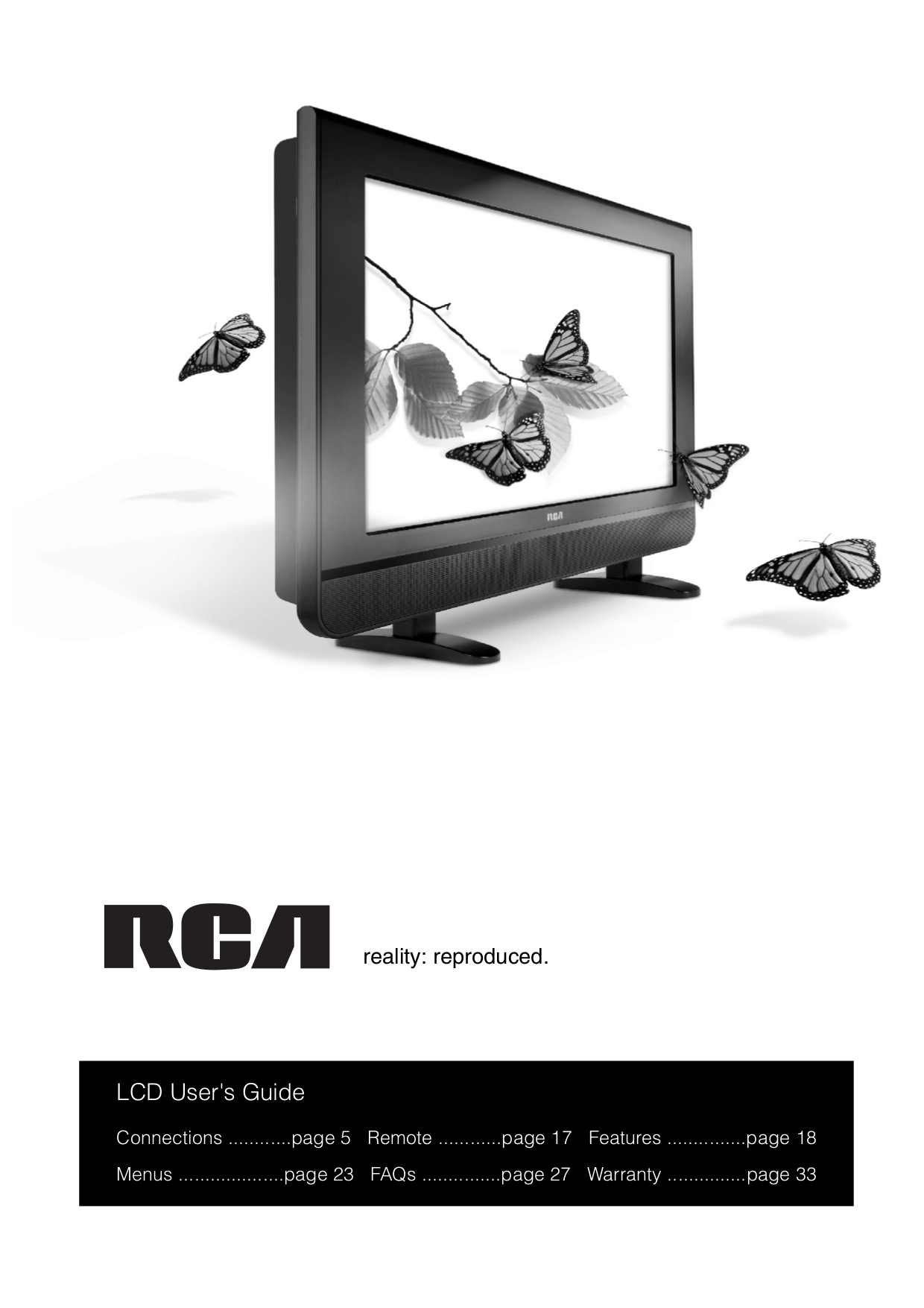download free pdf for rca l26wd21 tv manual. Black Bedroom Furniture Sets. Home Design Ideas