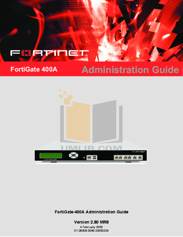 pdf for Fortinet Router FortiGate FortiGate-400A manual