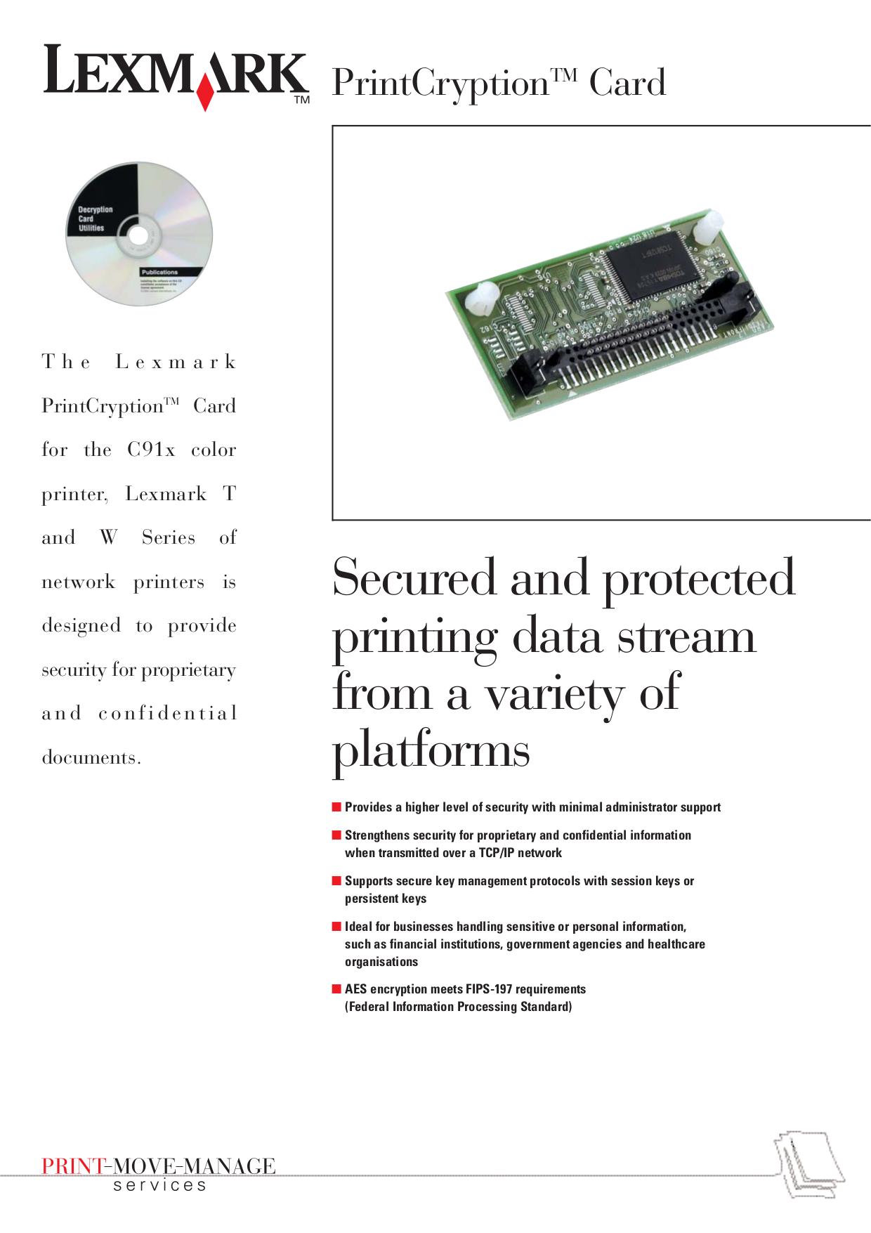 pdf for Lexmark Printer W820n manual