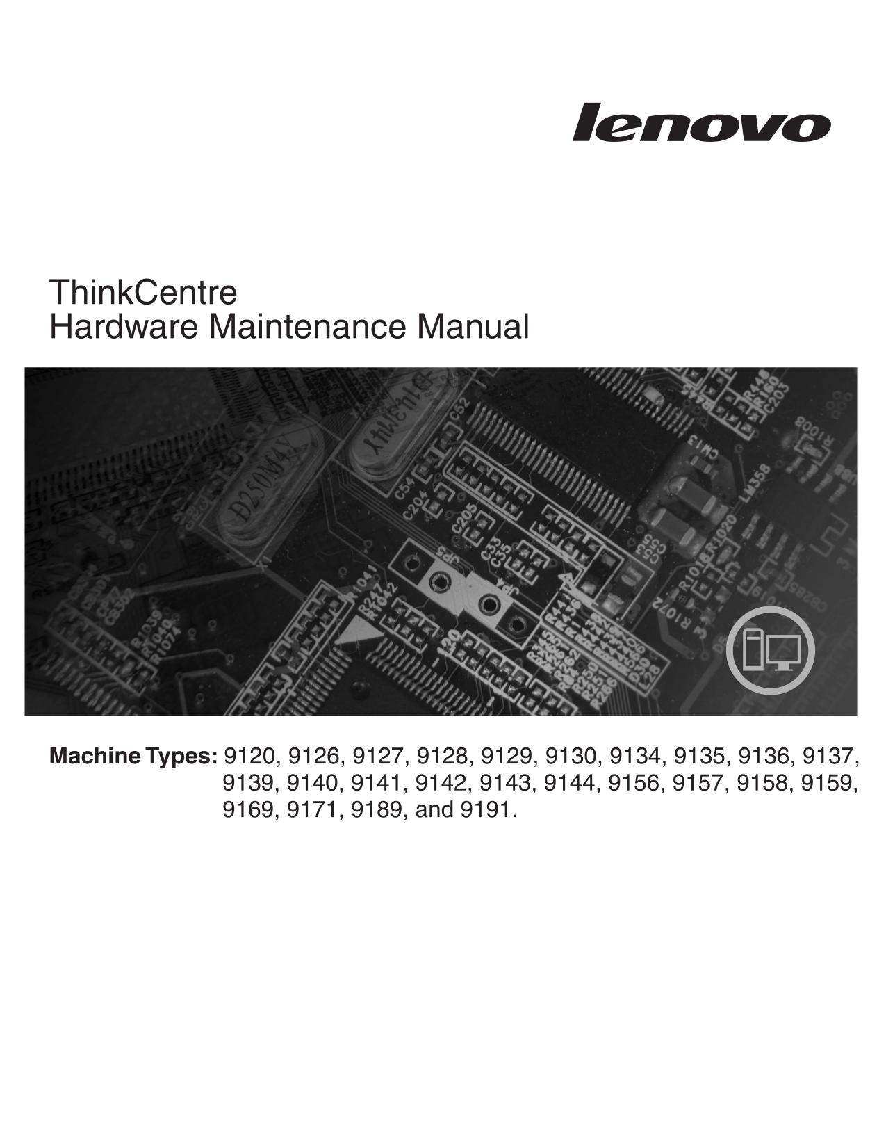 pdf for Lenovo Desktop ThinkCentre A61 9191 manual