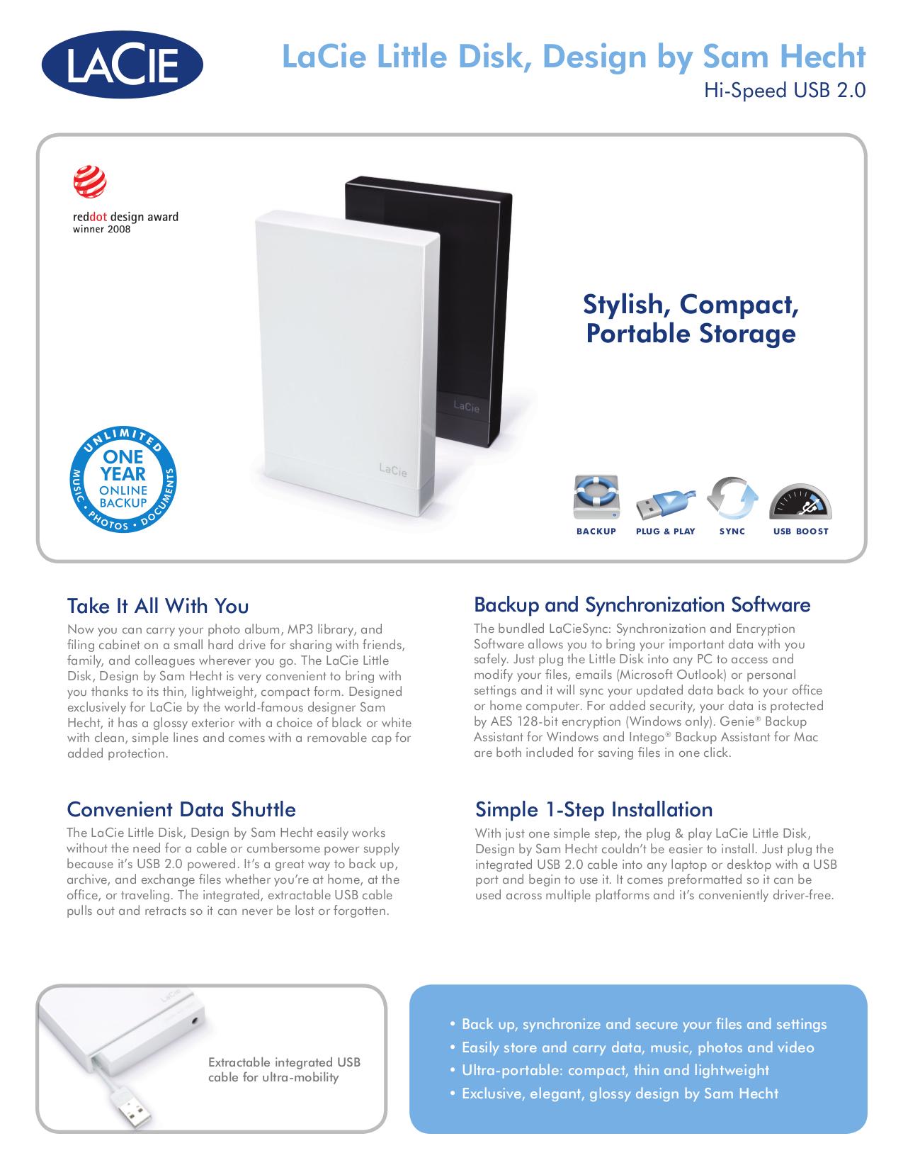 pdf for LaCie Storage 301278 manual