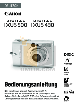 pdf for Canon Digital Camera IXUS 860 IS manual