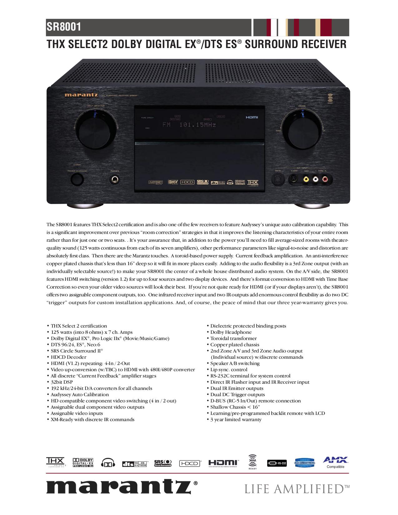 download free pdf for marantz sr8001 receiver manual rh umlib com Thx Home Theater Receiver Marantz SR7500 SR7001 Marantz Receiver
