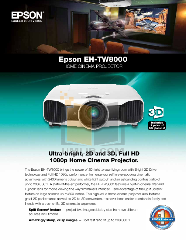 pdf for Epson Projector PowerLite 5000XB manual