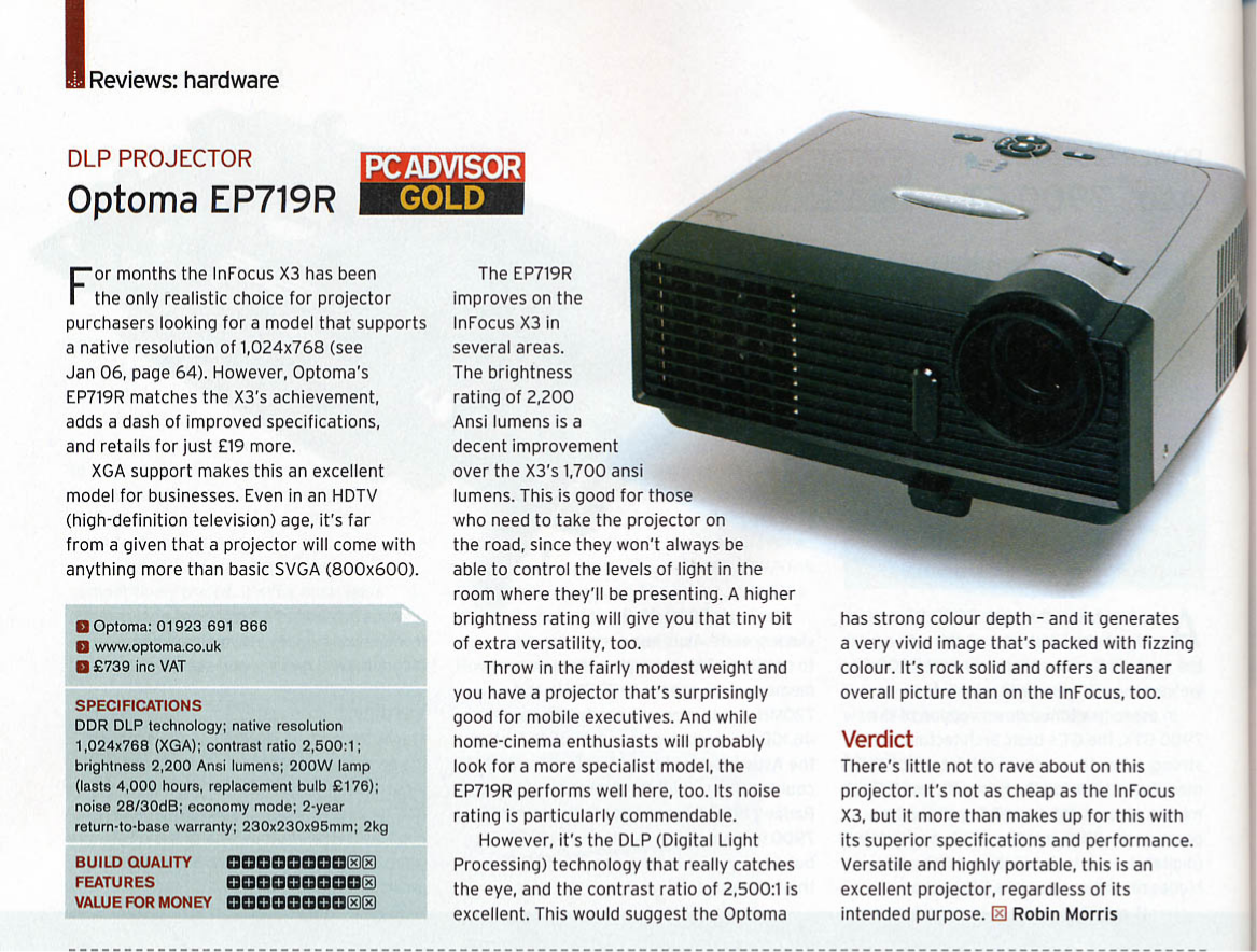 download free pdf for optoma ep719 projector manual rh umlib com Optoma Projector Old Optoma DLP Projector Manual