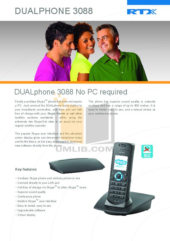 Dualphone 3088 инструкция