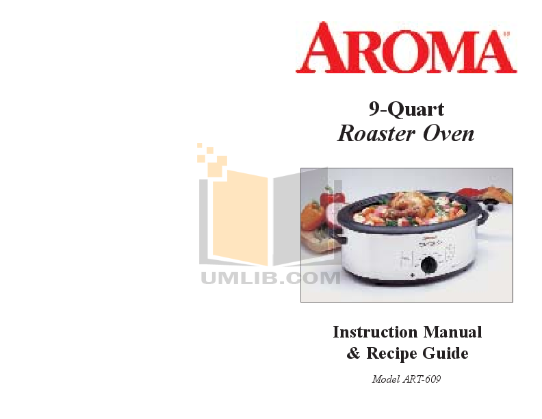 pdf for Aroma Oven ART-609 manual