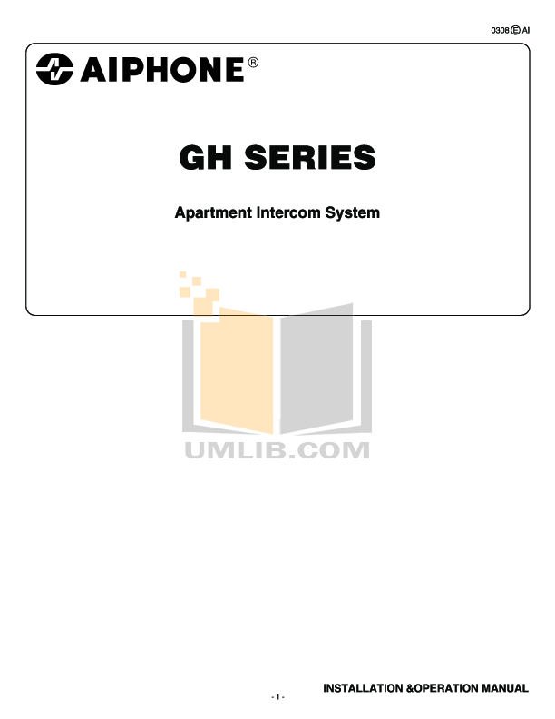 pdf for Aiphone Other GF-MK Intercoms manual