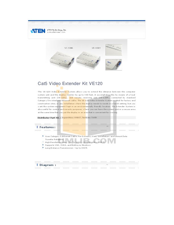 download free pdf for aten ve 120 video extender other manual rh umlib com Quick Reference Guide Example User Guide