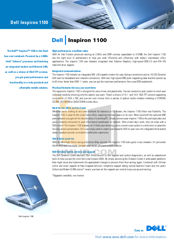 download free pdf for dell inspiron 1000 laptop manual rh umlib com Dell Inspiron 7000 Dell Inspiron 3000