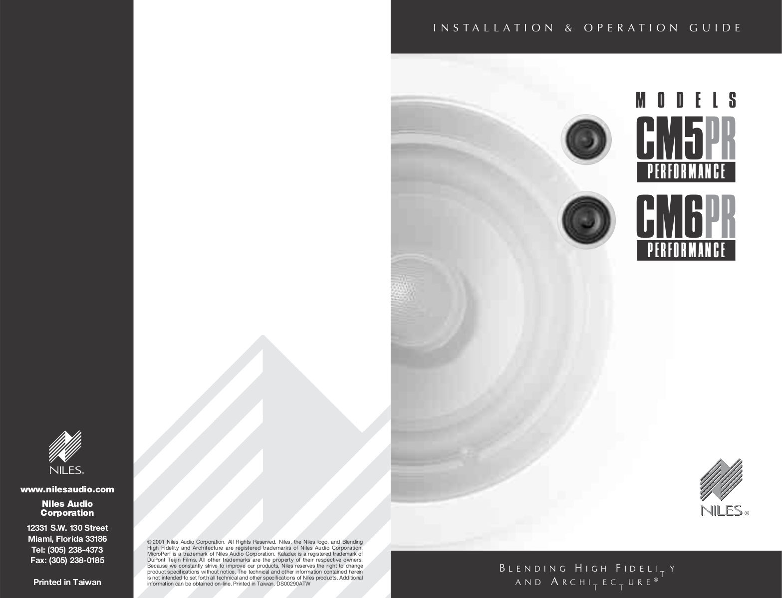 pdf for Niles Speaker CM5PR manual