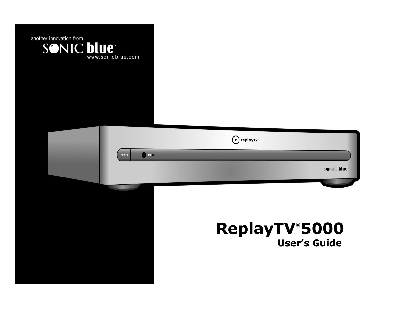 pdf for ReplayTV DVR RTV5040 manual