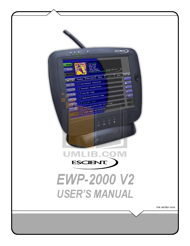 pdf for Escient Other Fireball MP-150 Media Players manual