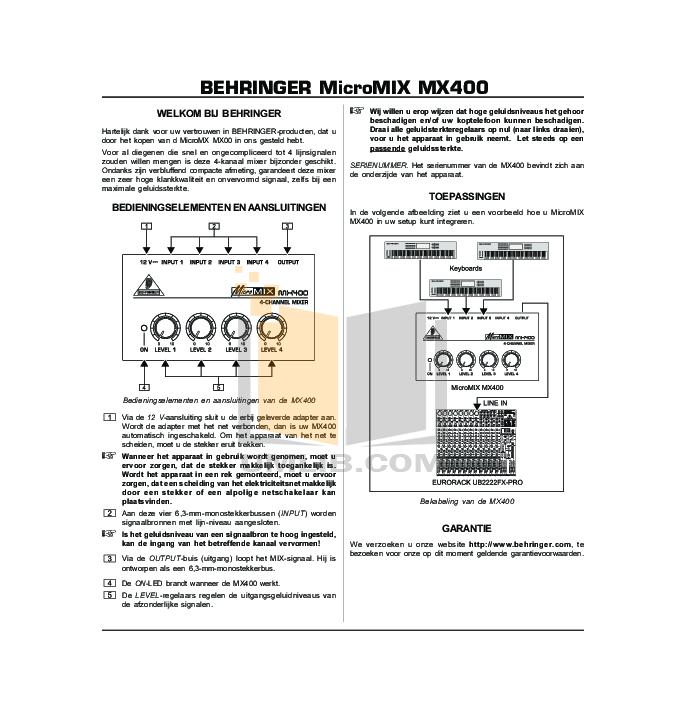 Behringer speakers eurocom st2400 pr application guide download free.
