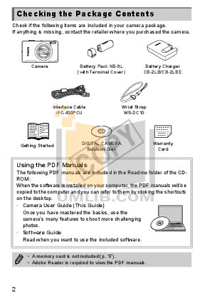 Canon Digital Camera Powershot ELPH 510 HS pdf page preview
