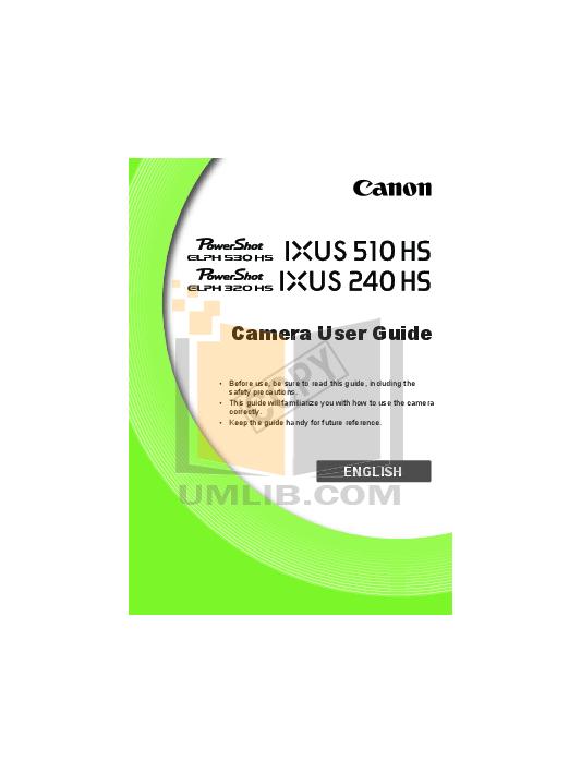 pdf for Canon Digital Camera Powershot ELPH 510 HS manual