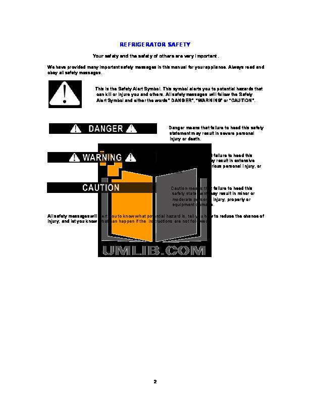 Avanti Refrigerator FF882PSS pdf page preview