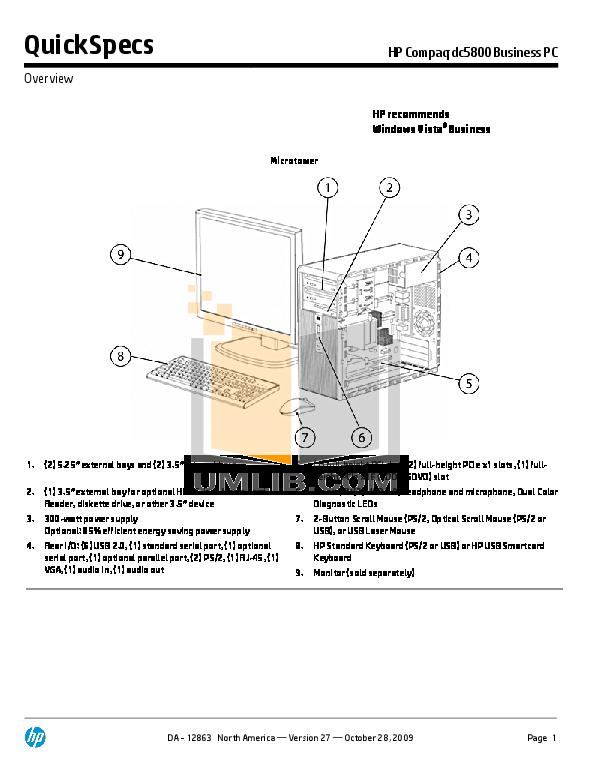 Hp Dc5800 Microtower Pdf