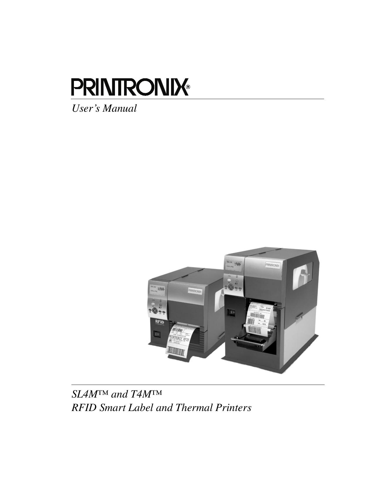 Download free pdf for printronix t4m printer manual.