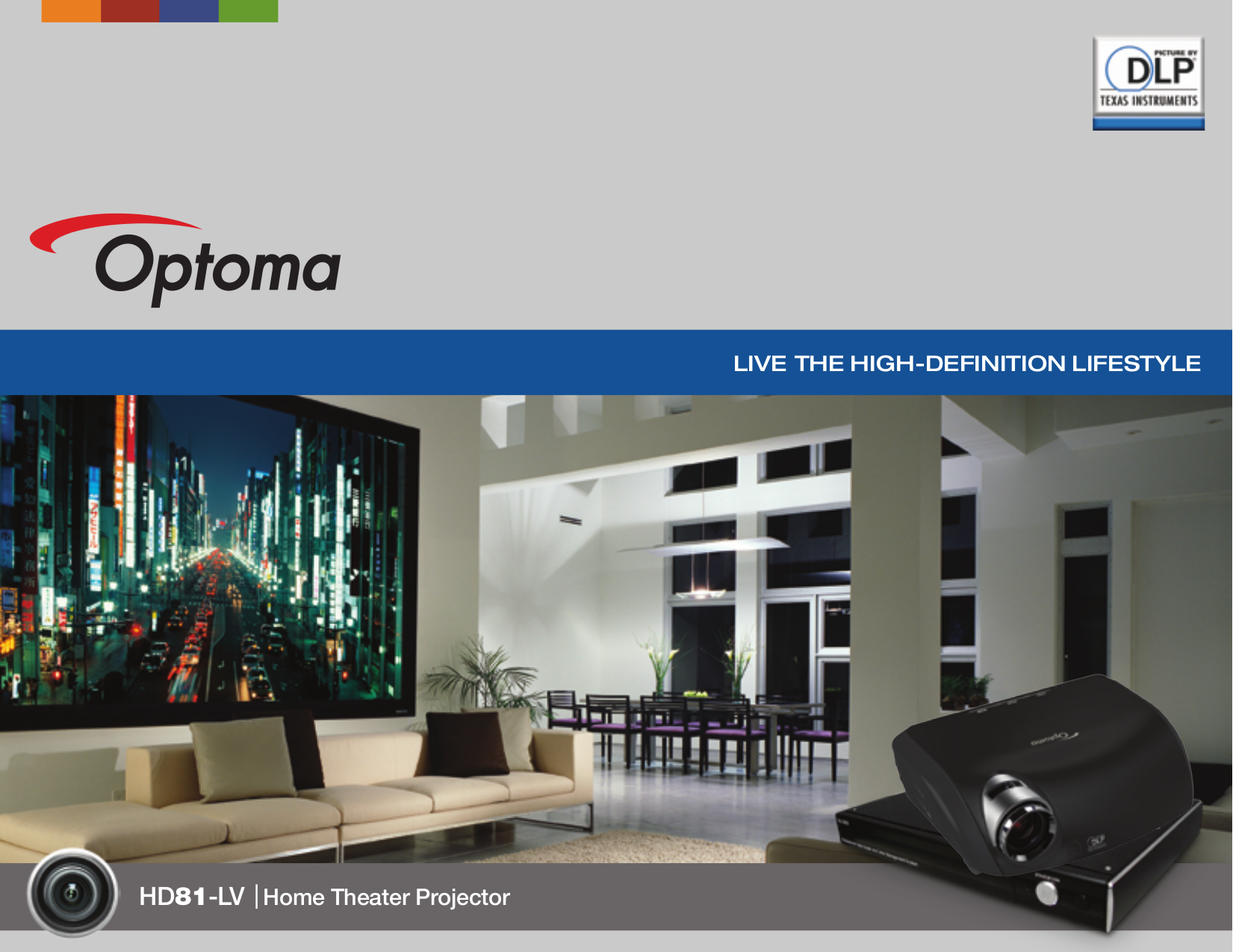 pdf for Optoma Projector HD81-LV manual