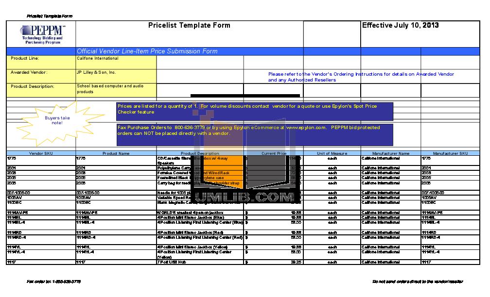 pdf for Califone Other 2395AV-02 Stereo Systems manual