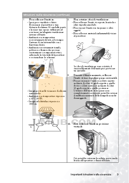 Benq Projector PB6210 pdf page preview