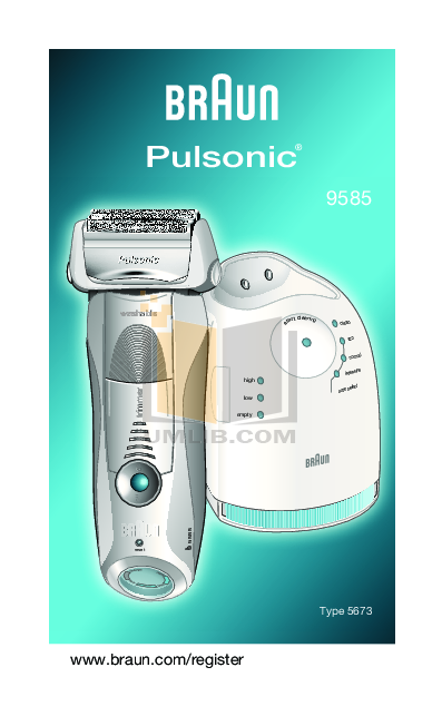 pdf for Braun Other Pulsonic 9585 Shavers manual