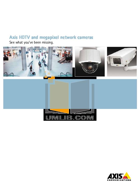 pdf for Axis Security Camera P1347-E manual